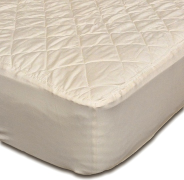 Washable Organic Cotton Covered Natural Wool Filled Quilted Mattress Pad Protectors