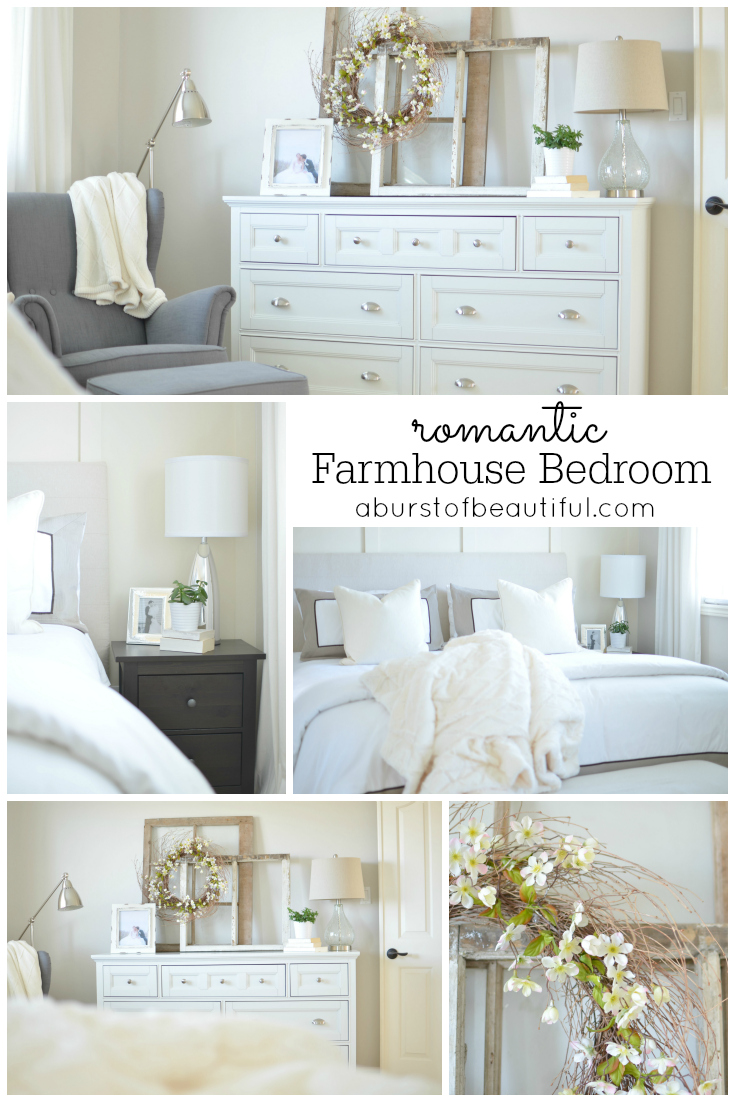 Romantic Farmhouse Bedroom - A Burst of Beautiful on Bedroom Farmhouse Decor  id=64562