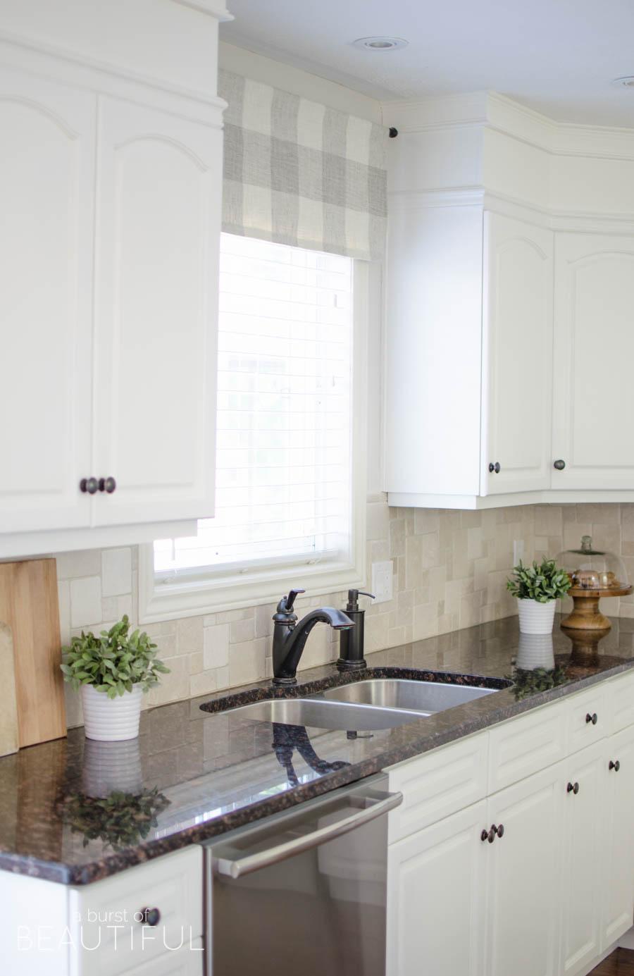 Farmhouse Kitchen Window Valance Tutorial A Burst Of