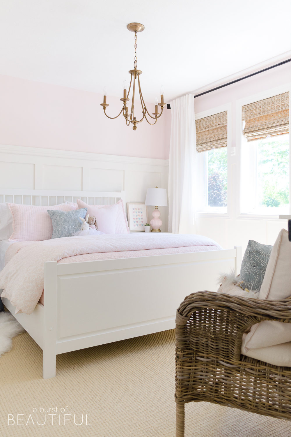 Sweet Pink and White Little Girl's Bedroom | Toddler ... on Beautiful Girls Room  id=26631
