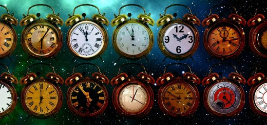 picture of 14 clocks set to different times