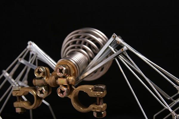 iron-spider – sculpture en métal récyclé