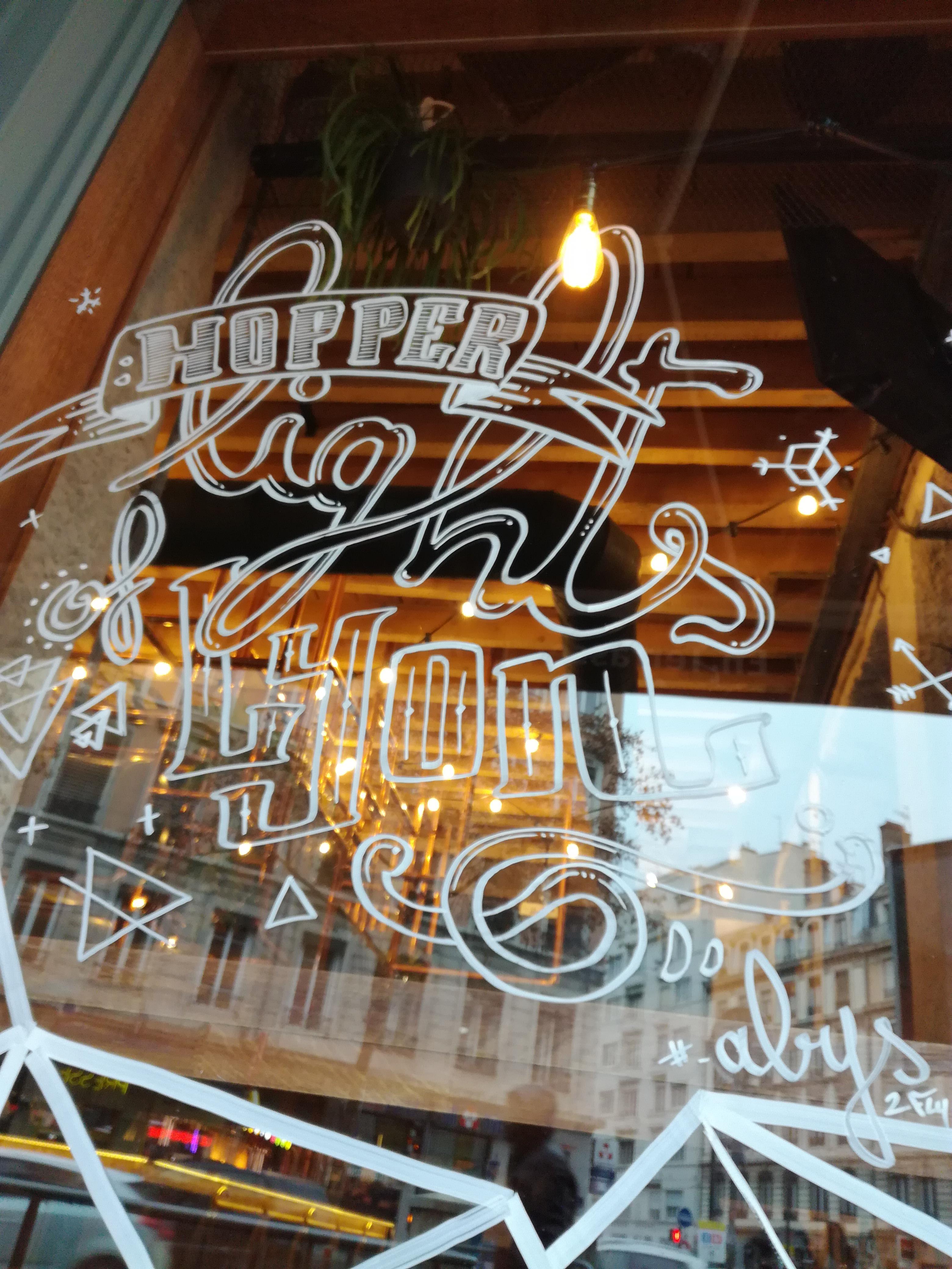 abys - da lyon -illustration vitrine deco hopper