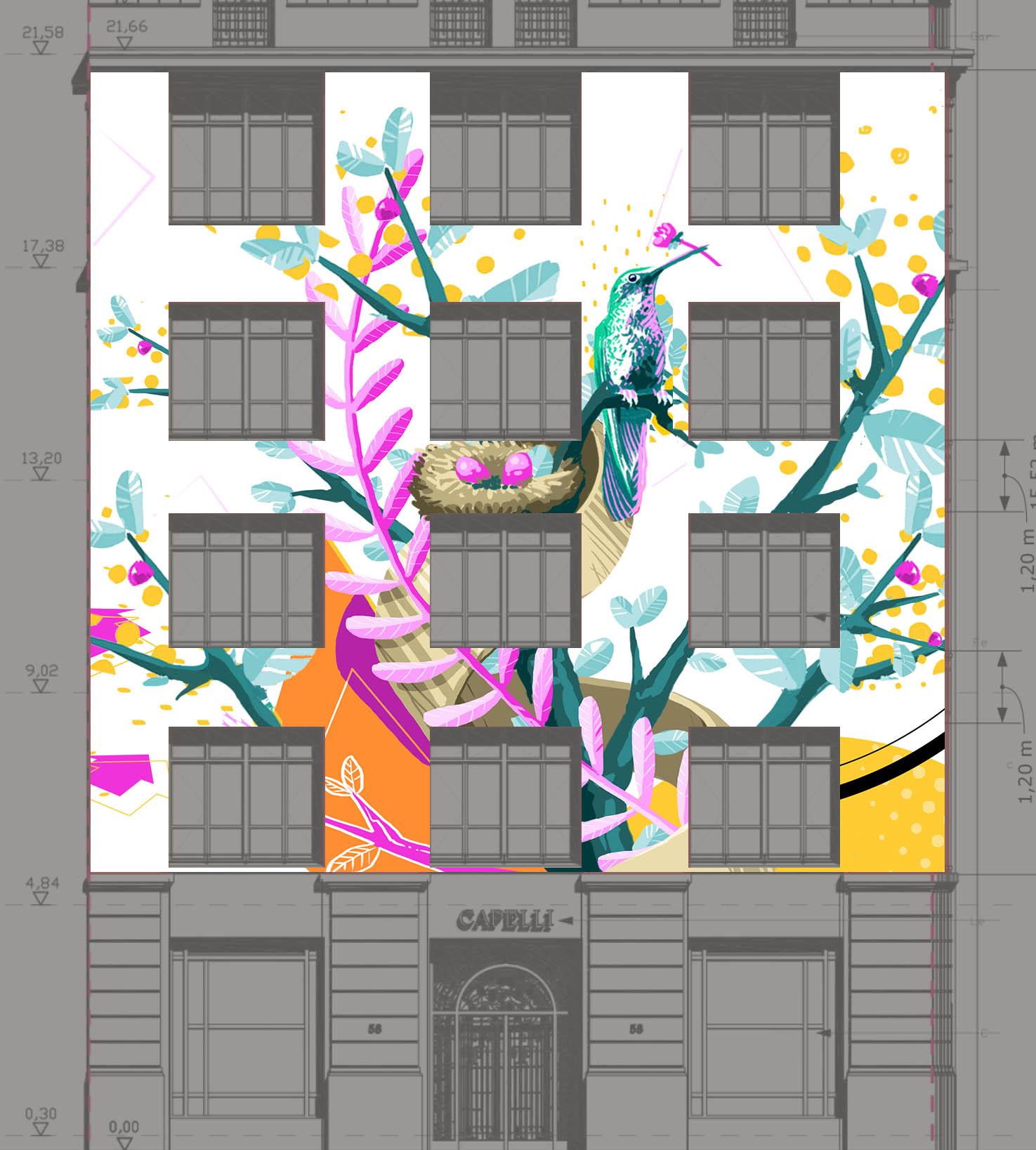 Projet façade -illustrateur-graphiste-lyon -abys