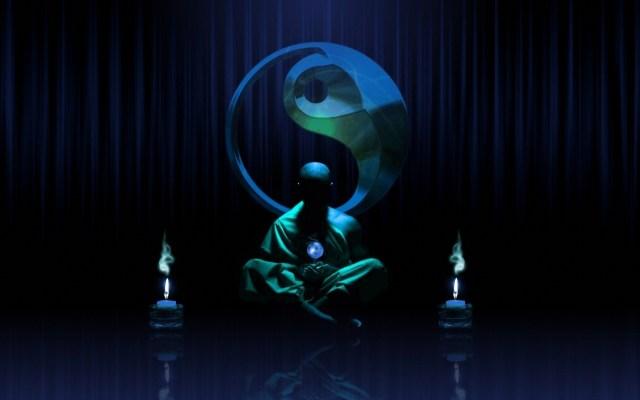 zen monk ying yang
