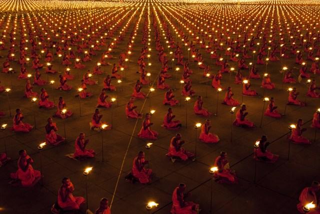 Wat Phra Dhammakaya Buddhist temple in Bangkok