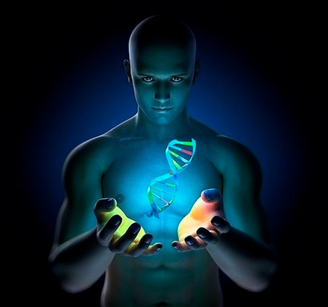 Genetic research, conceptual artwork