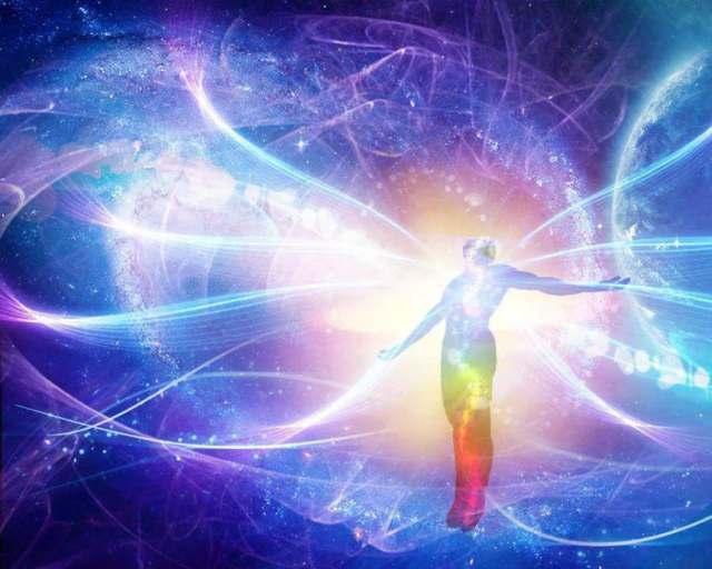 cosmic centered man