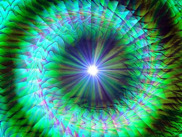 fractal green spiral