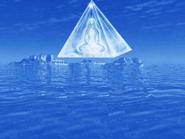pyramid ice blue
