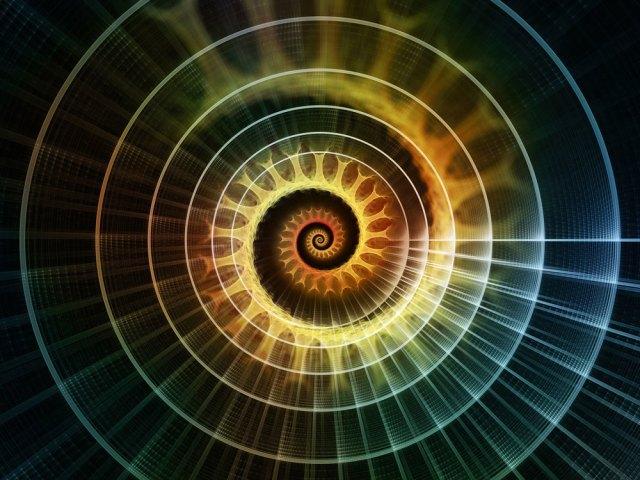 radiant spiral fractal