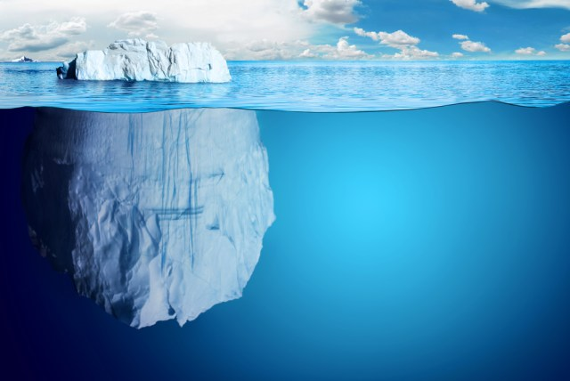 Iceberg deep blue