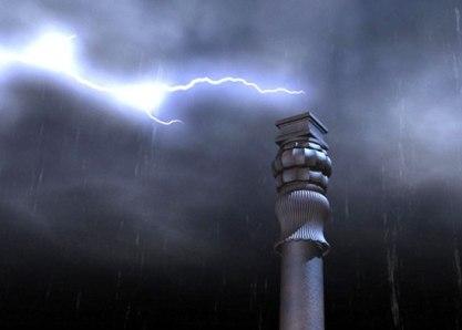 New Delhi Iron Pillar-lightning