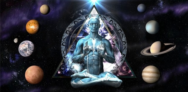 Cosmic Triangle Man