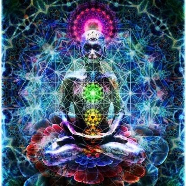 Sacred Geometry Lotus Chakra Alignment