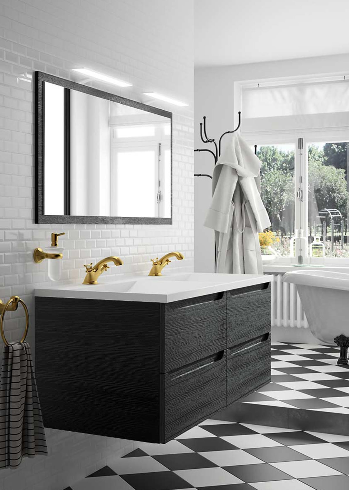Mobilier de salle de bain classique avec AC Agencement