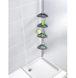 https www ac deco com meubles de salle de bain 5597 etagere d angle de douche telescopique aluminium 4 niveaux avec crochets 4008838812907 html