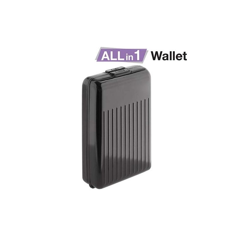 Portefeuille en aluminium tout-en-un - Noir