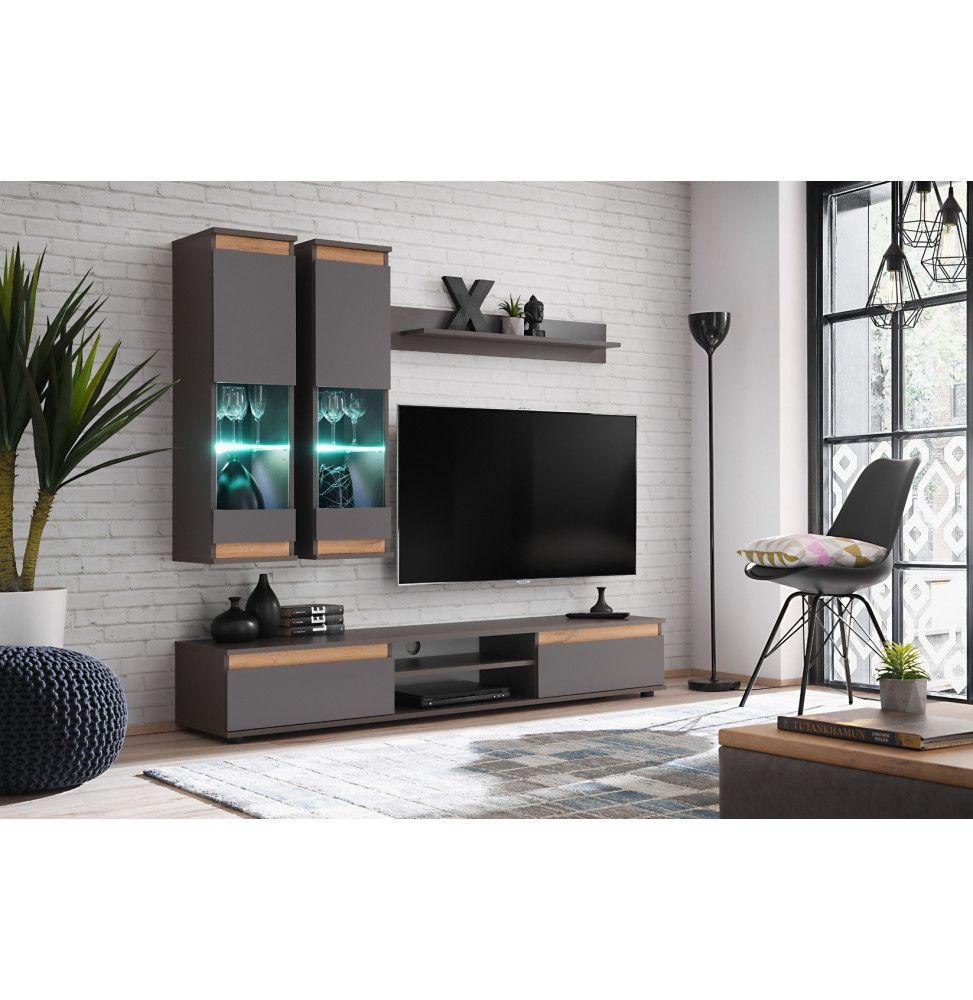 ensemble meuble tv mural abw modo gris