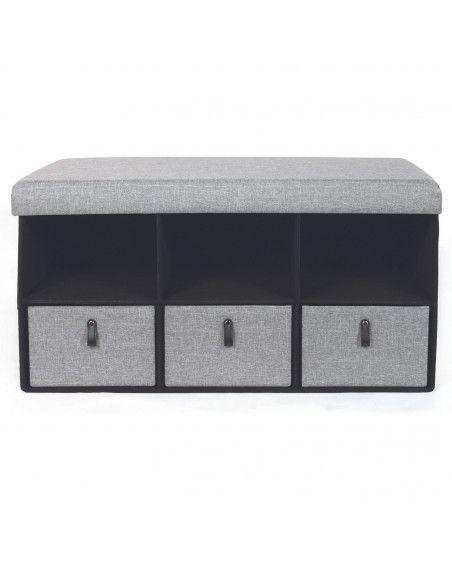 https www ac deco com bancs 34514 coffre banc pliable avec rangements gris 3664944097884 html