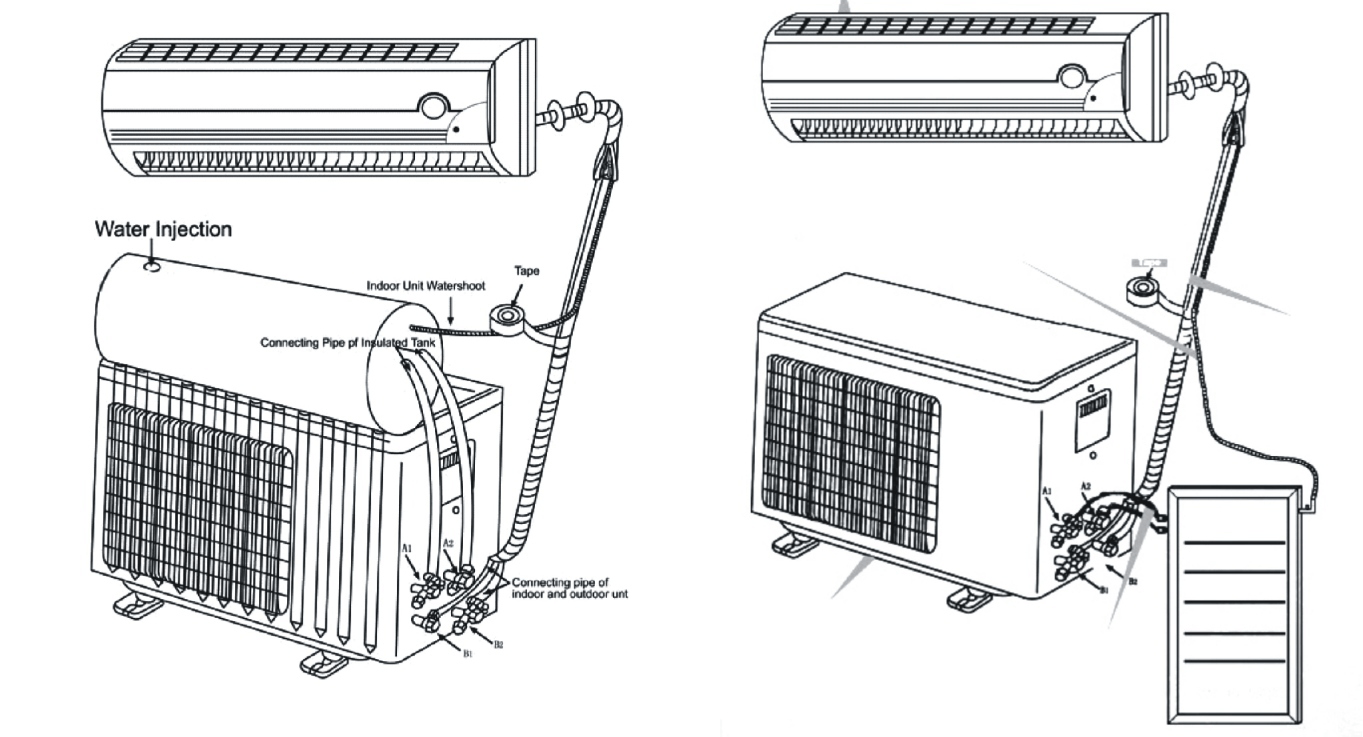 air conditioning wall diagram