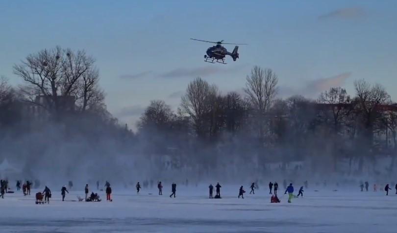 berlínská policie vrtulník