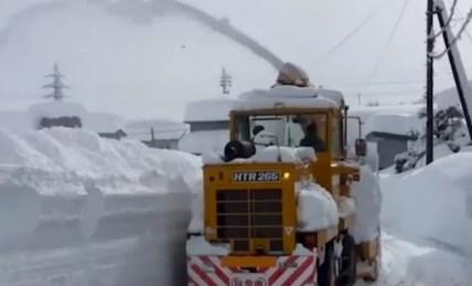 sníh japonsko