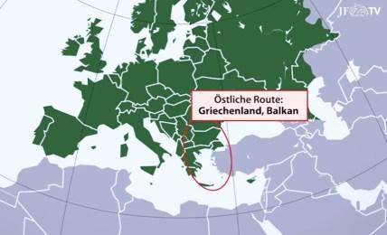 migrační trasy evropa