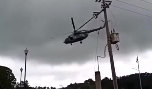 pád vrtulníku mexiko