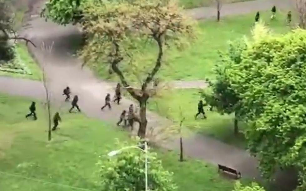 australská policie střílí
