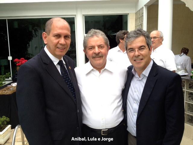 Lula recebe, em São Paulo, senadores Jorge e Aníbal