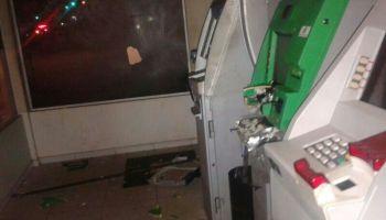 Bandidos explodem caixas eletrônicos do Supermercado Araújo