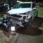 Colisão entre carro e moto deixa homem gravemente ferido em Rio Branco