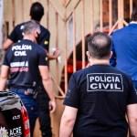 Operação da Polícia Civil prende 4 empresários, apreende 11 carros, armas, munições e bloqueia R$ 4 milhões