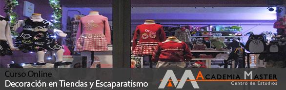 Curso online Decoración en Tiendas y Escaparatismo Academia Master Informatica Marbella-Malaga