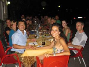 dinner with language students