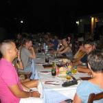 Dinner in a local restaurant with a group of language students of the Spanish, English and German courses