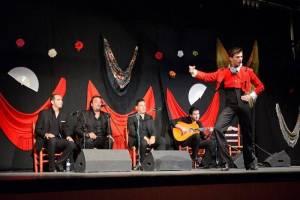 Mit den Spanisch-Sprachschülern beim Kulturausflug, Flamenco in Ubrique I.