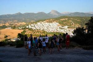 Hiking on the first day of the Spanish course