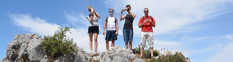 Taking pictures at Castillo de Zahara
