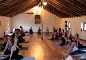 Yoga practice in the Spanish and Yoga program