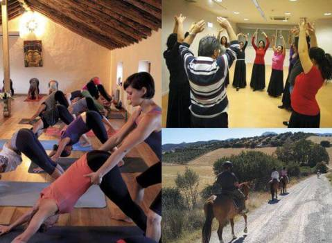 Special packages Spanish course and Yoga, Spanish course and Riding, Spanish course and Flamenco