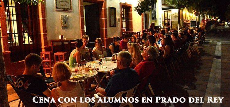 Dinner-students-of-spanish-Prado-del-Rey