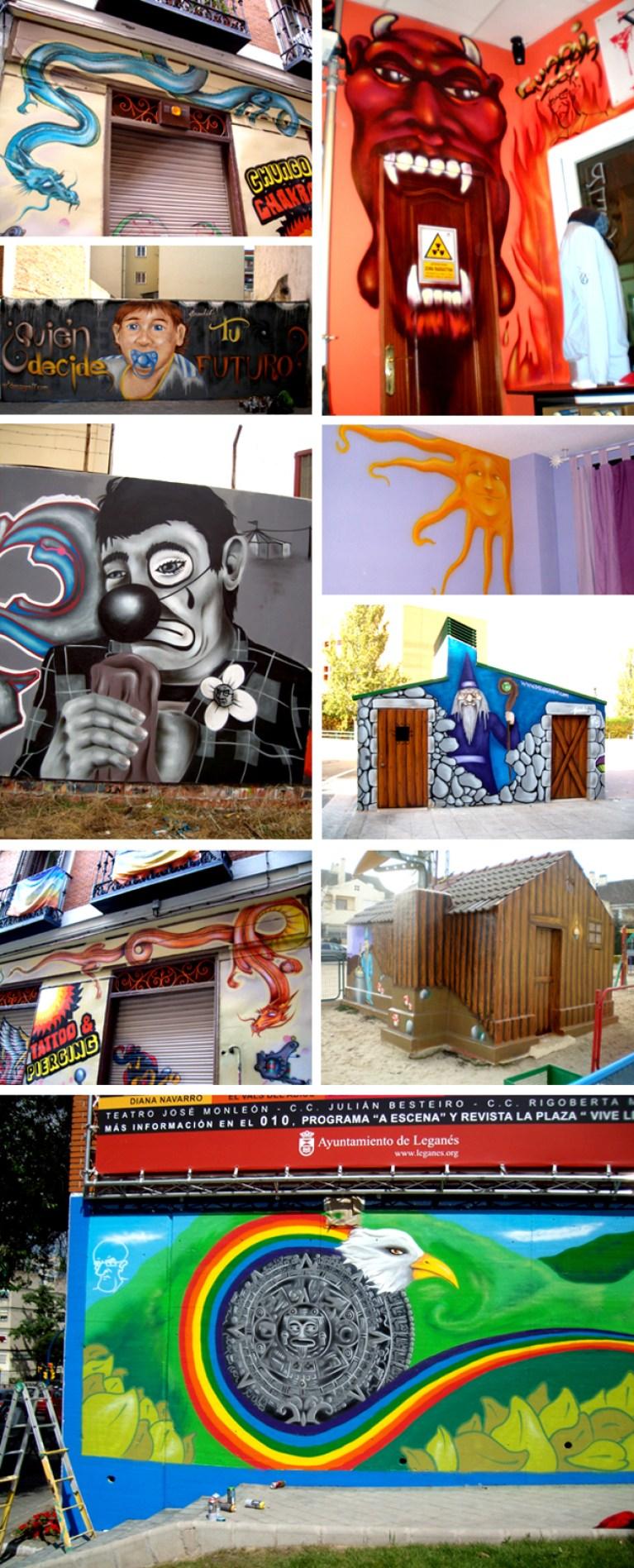 Trabajos de grafitti de David Guardia.