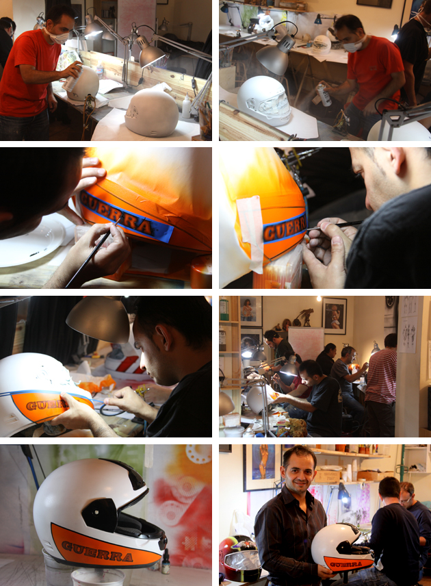 Cursos de cascos de moto en academia C10