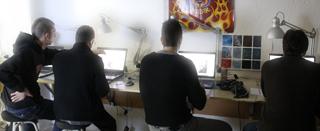 Alumnos de los cursos de ilustración digital.  Academia C10.