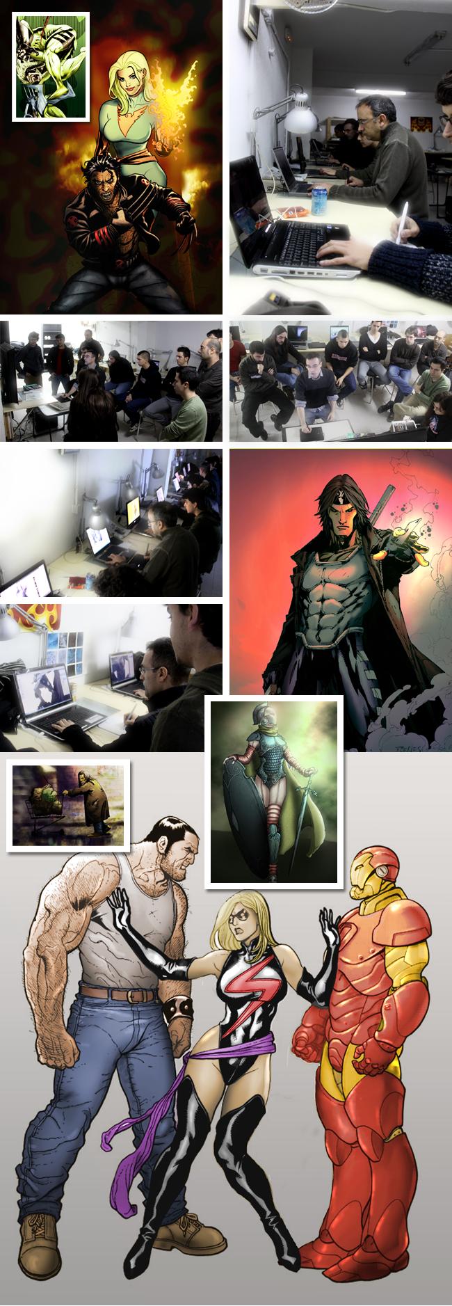Imagenes del curso de ilustración digital. Academia C10.