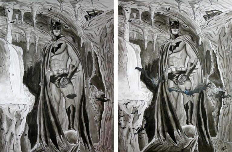 Batman. Trabajo de alumno de comic e ilustracion en Academia C10. Madirid.