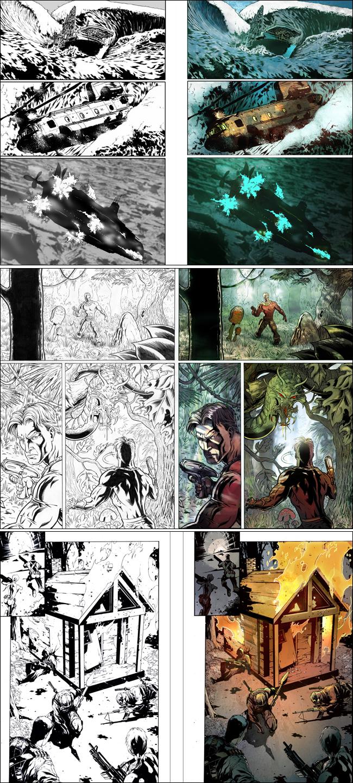 Color digital para comic G.I.Joe por Oscar Martin. Academia C10. Madrid.