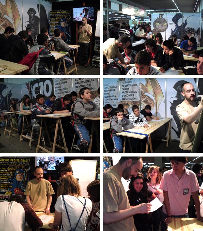 Academia C10 en expomanga, feria del comic manga.